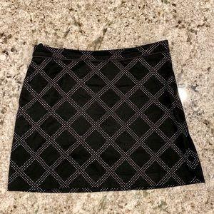 Izod Perform X Golf Stretch Black White Skirt